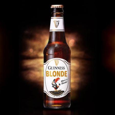bottle of Guinness Blonde beer